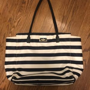 Kate Spade - Navy Striped Tote! Discounted